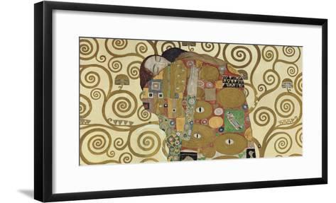 The Embrace (detail)-Gustav Klimt-Framed Art Print