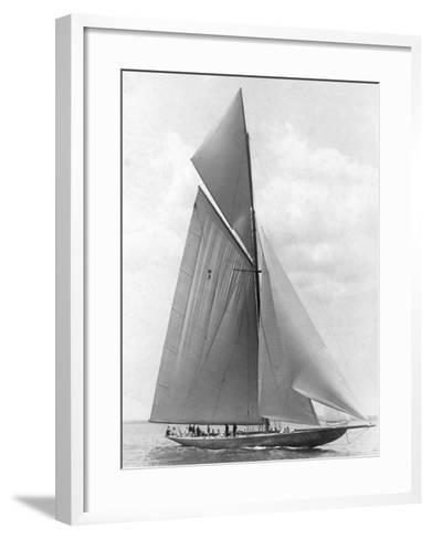 The Vanitie During the America's Cup, 1910-Edwin Levick-Framed Art Print