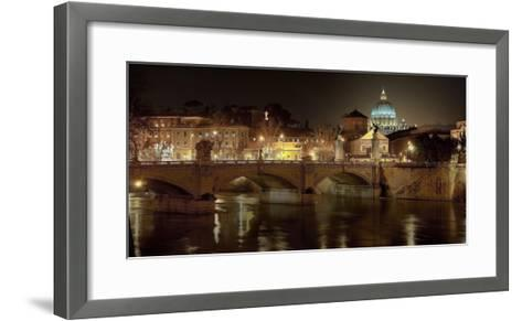 Rome at night-Vadim Ratsenskiy-Framed Art Print