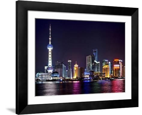 Shanghai at night-Vadim Ratsenskiy-Framed Art Print