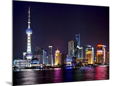 Shanghai at night-Vadim Ratsenskiy-Mounted Art Print