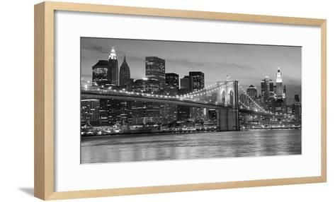 Brooklyn Bridge at Night--Framed Art Print