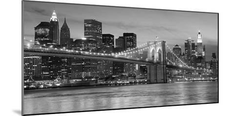 Brooklyn Bridge at Night--Mounted Art Print