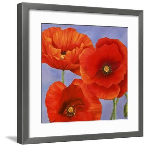 Dance of Poppies II-Luca Villa-Framed Art Print