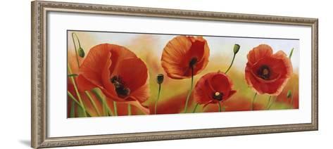 Poppies in the wind-Luca Villa-Framed Art Print