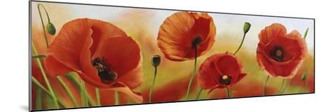 Poppies in the wind-Luca Villa-Mounted Art Print
