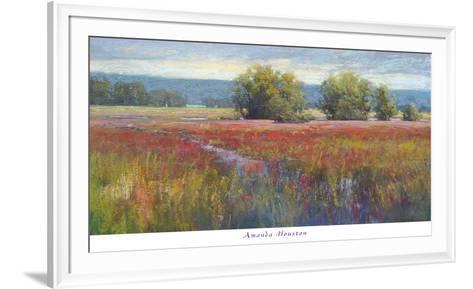 Flowing Thru Crimson-Amanda Houston-Framed Art Print