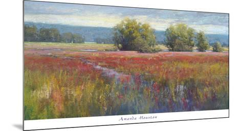 Flowing Thru Crimson-Amanda Houston-Mounted Art Print