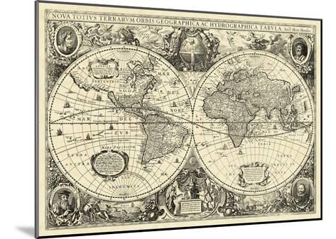 Vintage World Map--Mounted Giclee Print