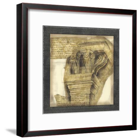 Antique Capitals II-Jennifer Goldberger-Framed Art Print