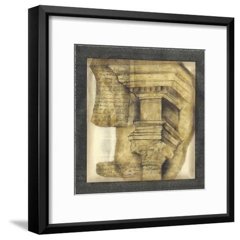 Antique Capitals IV-Jennifer Goldberger-Framed Art Print