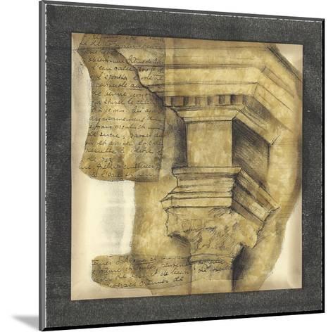 Antique Capitals IV-Jennifer Goldberger-Mounted Giclee Print