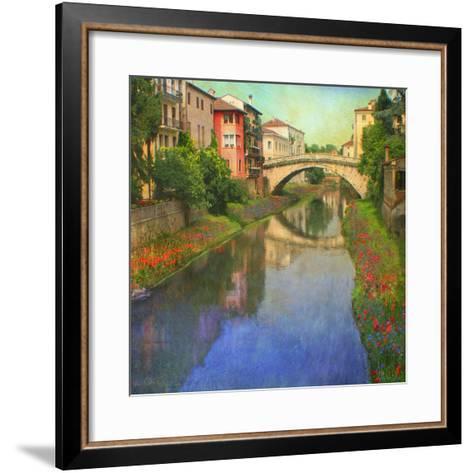 Stream Bridge-Chris Vest-Framed Art Print