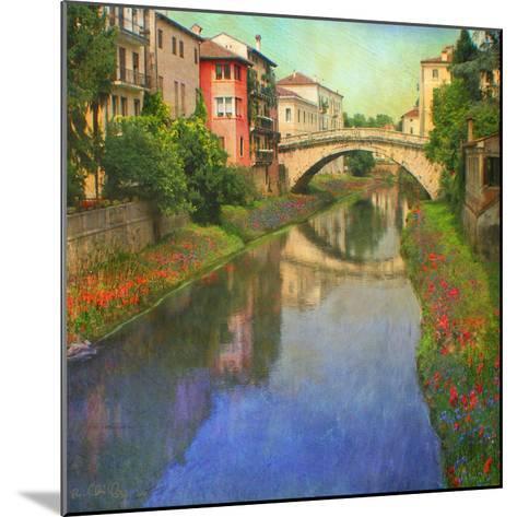 Stream Bridge-Chris Vest-Mounted Art Print