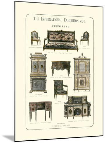 Furniture 1876--Mounted Giclee Print