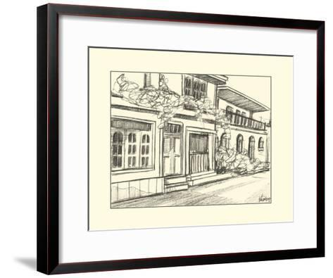 Sketches of Downtown III-Ethan Harper-Framed Art Print