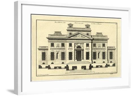 Crackled Architectural Facade V-Jean Deneufforge-Framed Art Print
