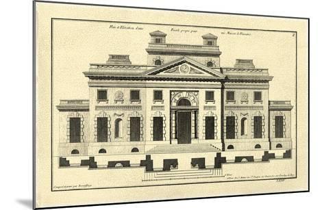 Crackled Architectural Facade V-Jean Deneufforge-Mounted Art Print