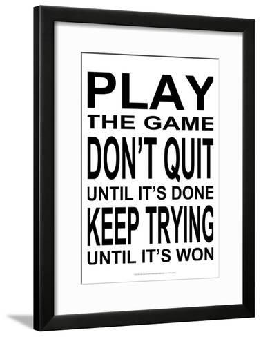 Play the Game II-Andrea James-Framed Art Print