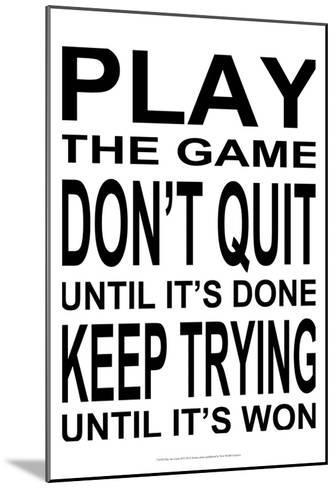 Play the Game II-Andrea James-Mounted Art Print