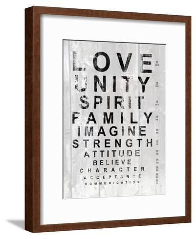 Eye Chart I-Andrea James-Framed Art Print
