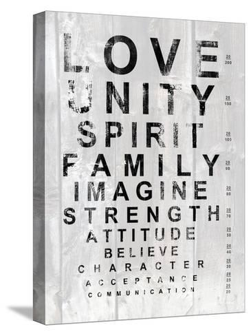 Eye Chart I-Andrea James-Stretched Canvas Print