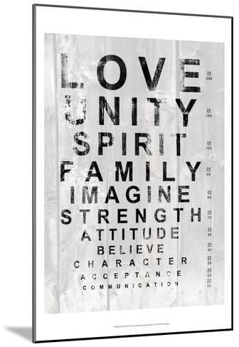 Eye Chart I-Andrea James-Mounted Art Print