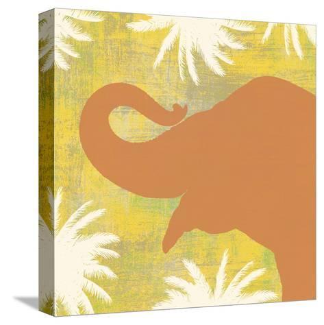 Elephant-Erin Clark-Stretched Canvas Print