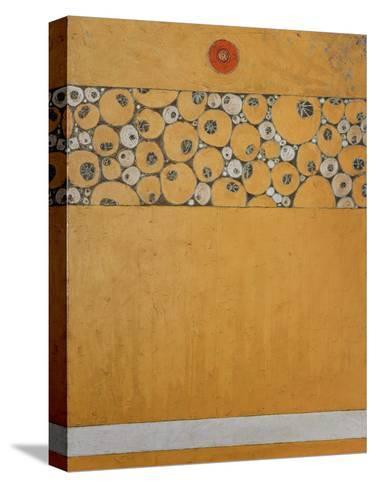 Poppy Bud Icon-Karen Tusinski-Stretched Canvas Print