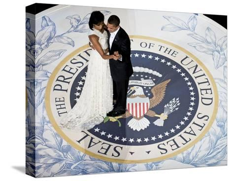 President Obama and the First Lady--Stretched Canvas Print