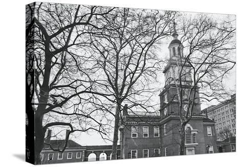 Independence Hall (horizontal)-Erin Clark-Stretched Canvas Print