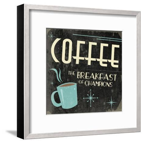 Coffee-Jace Grey-Framed Art Print