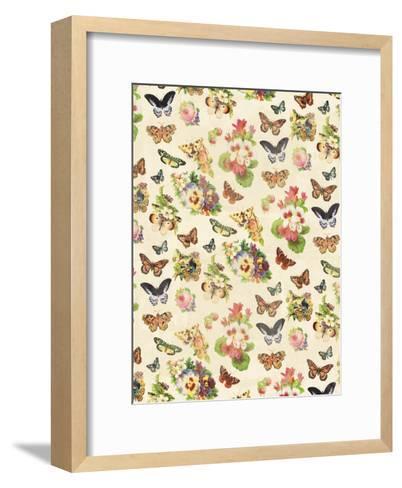 Butterflies Flowers-Jace Grey-Framed Art Print