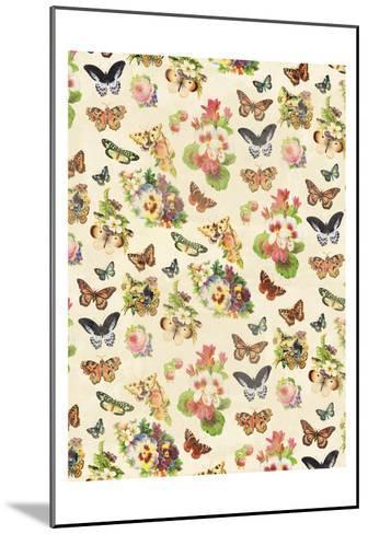 Butterflies Flowers-Jace Grey-Mounted Art Print