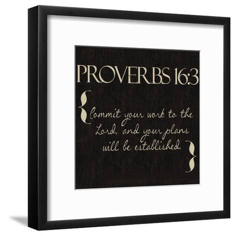 Proverbs 16-3-Taylor Greene-Framed Art Print