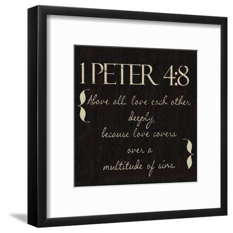 1 Peter 4-8-Taylor Greene-Framed Art Print
