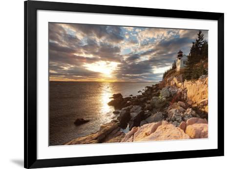Bass Harbor Lighthouse-Michael Hudson-Framed Art Print