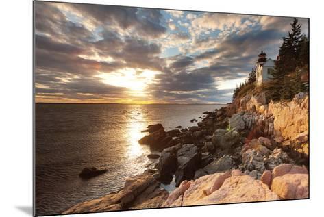 Bass Harbor Lighthouse-Michael Hudson-Mounted Art Print