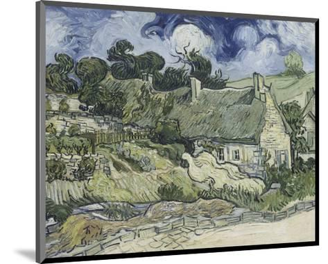 Thatched Cottages in Cordeville-Vincent van Gogh-Mounted Giclee Print