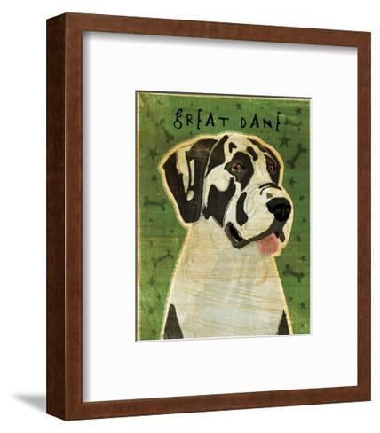 Great Dane (Harlequin, no crop)-John Golden-Framed Art Print