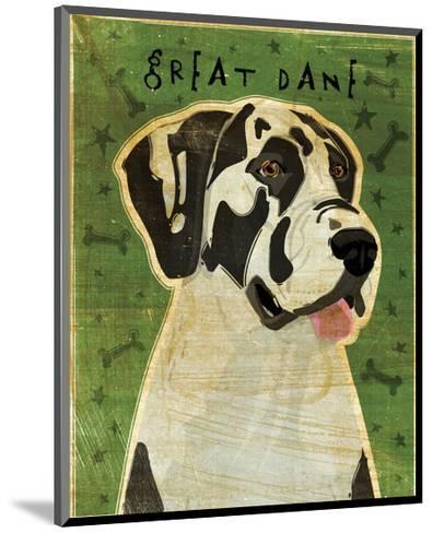 Great Dane (Harlequin, no crop)-John Golden-Mounted Giclee Print