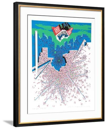 City 380-Risaburo Kimura-Framed Art Print