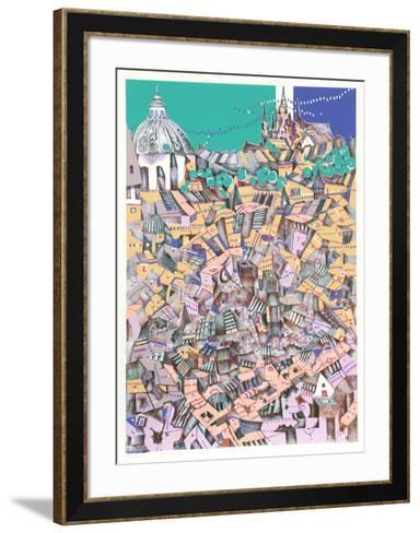 Prague-Risaburo Kimura-Framed Art Print