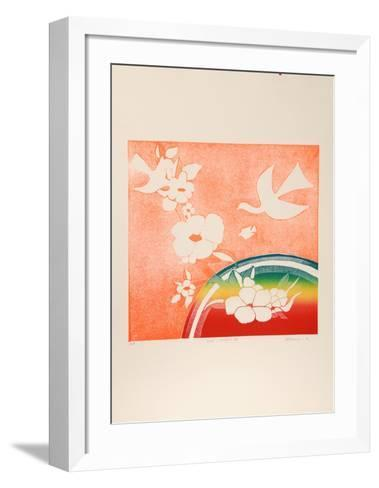 Birds, Rainbow V-Mireille Kramer-Framed Art Print