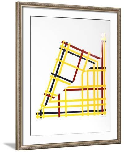Folded NYC- Jacobs-Framed Art Print