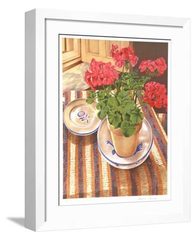 Geranium-Sandra Lawrence-Framed Art Print