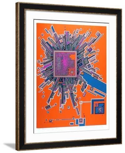 City 361-Risaburo Kimura-Framed Art Print