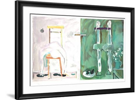 The Duck Pond: Chair-Daniel Marshall-Framed Art Print
