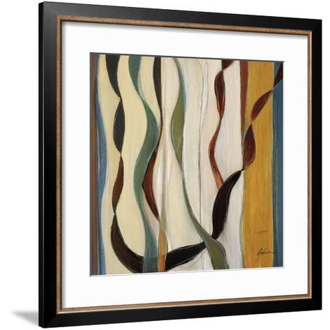 Falling Ribbons II-Judeen-Framed Art Print