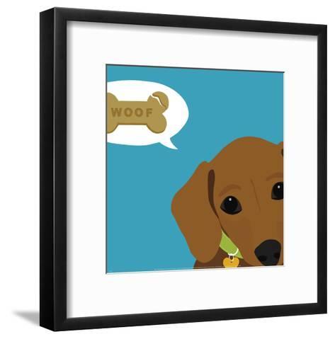 Peek-A-Boo: Dachsund-Yuko Lau-Framed Art Print